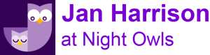 Jan Harrison at Night Owls Logo